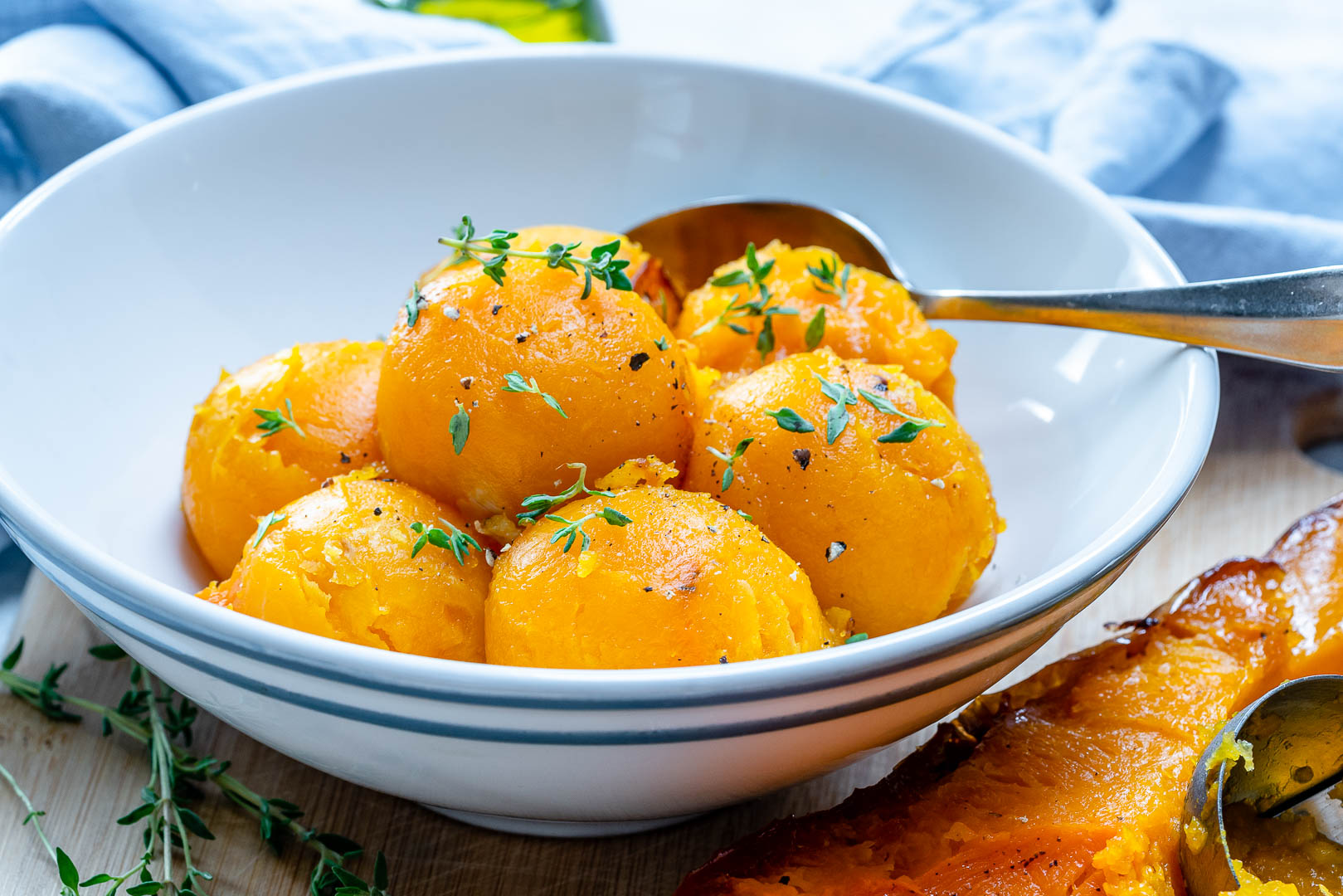 Eat Clean Roasted Butternut Squash Scoops