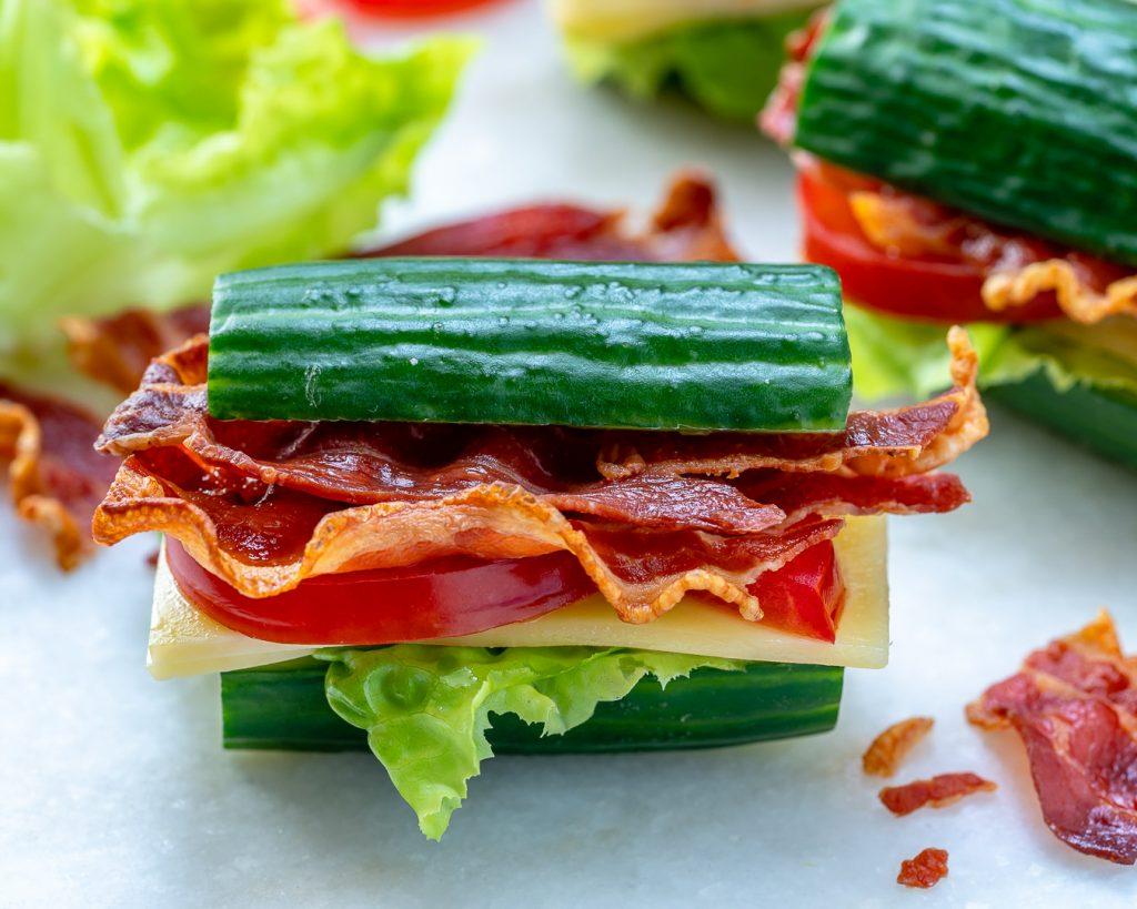 Healthy Cucumber BLT's Recipe