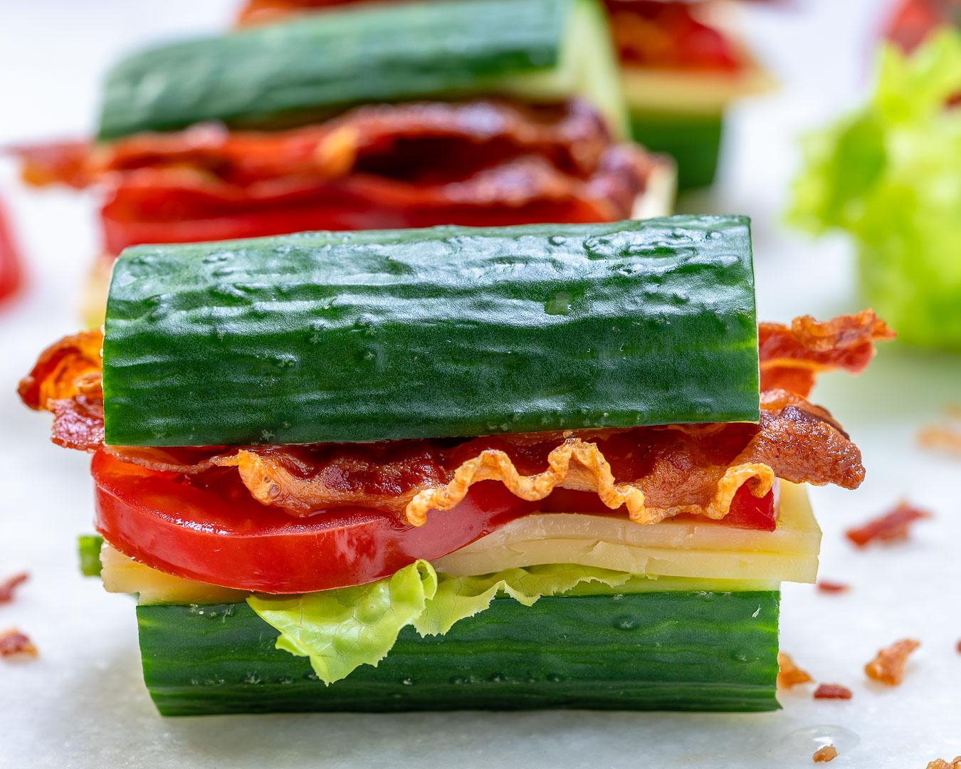 CleanFoodCrush BLT Cucumber Sandwich
