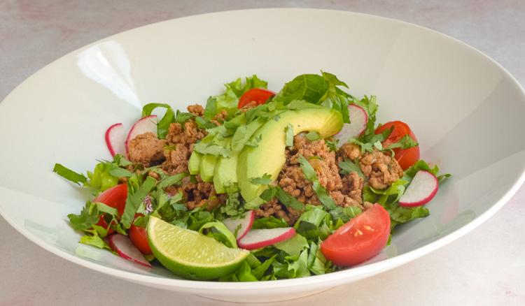 Healthy Quick Turkey Taco Salads Food Prep