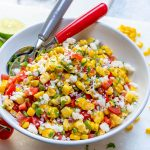Making Corn Salsa Fresca