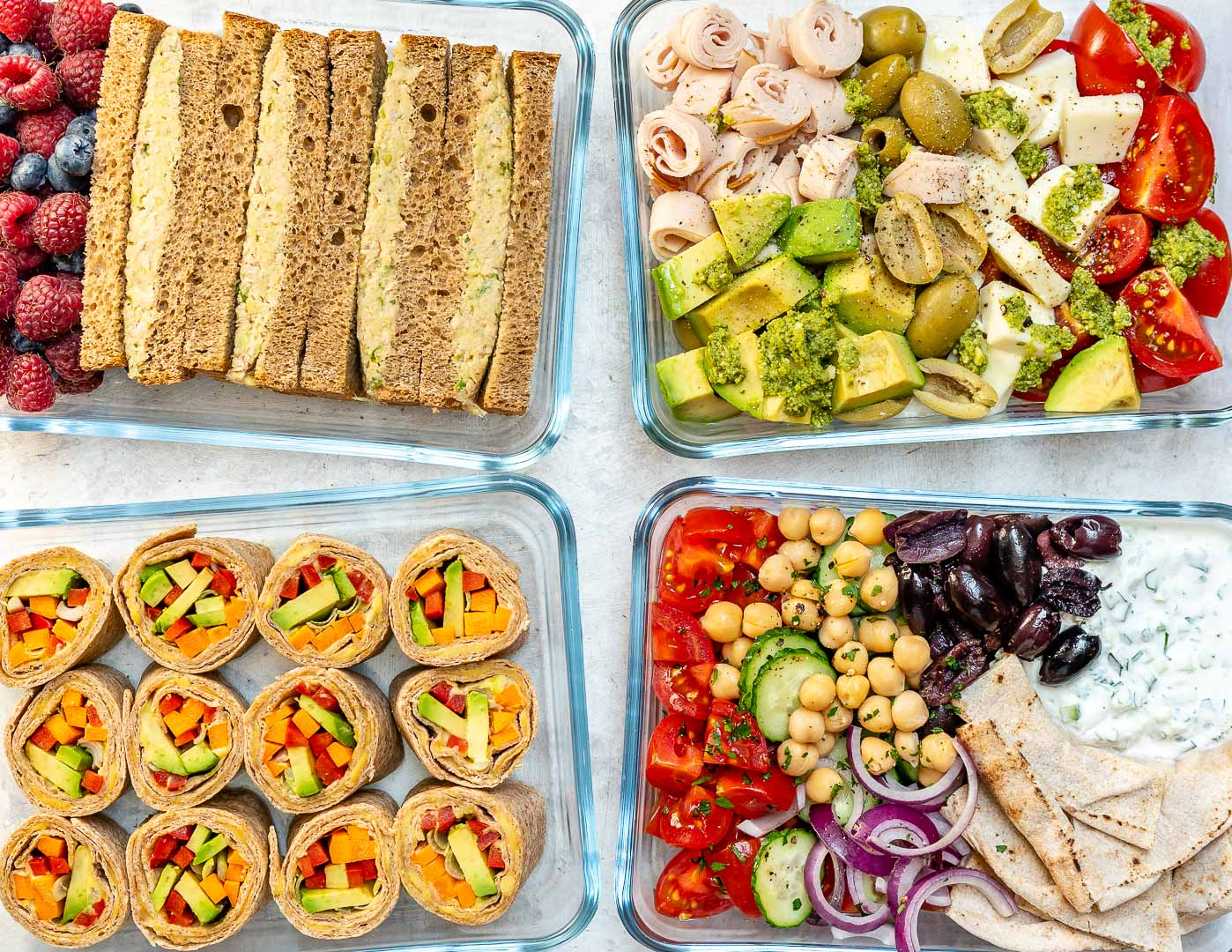 no-cook clean eating lunch boxes 4 creative ways! | clean food crush