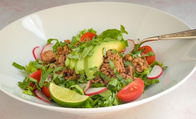 Turkey Taco Salads Meal Prep