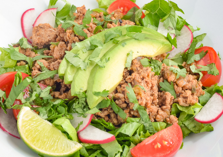 Quick Turkey Taco Salads for Lunchtime Meal Prep CleanFoodCrush