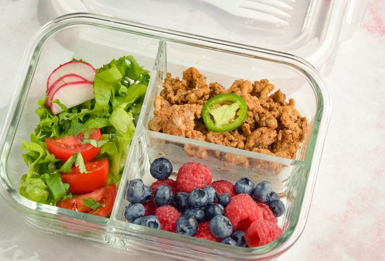 Healthy Turkey Taco Clean Eating Salad