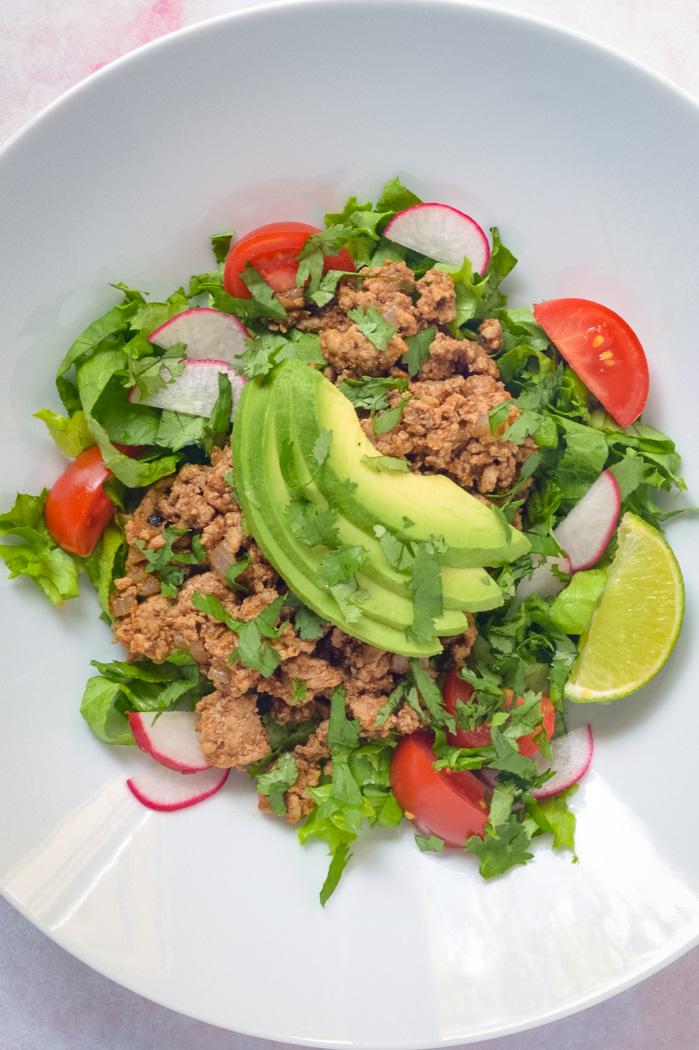 Clean Eating Turkey Taco Salads