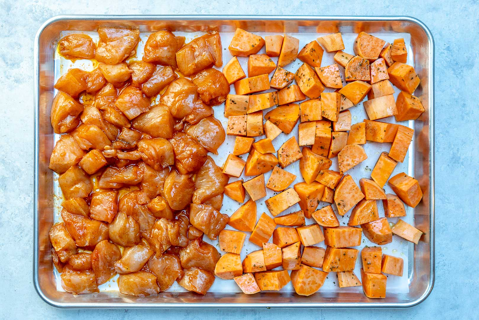 Roasted Chicken Sweet Potato Meal Prep Ingredients