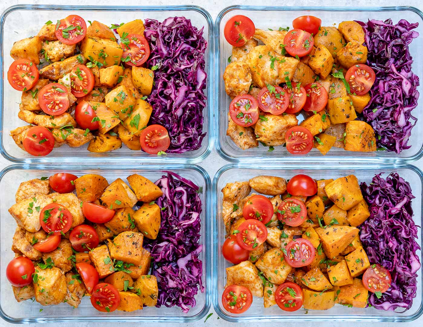 CleanFoodCrush Roasted Chicken Sweet Potato Meal Prep