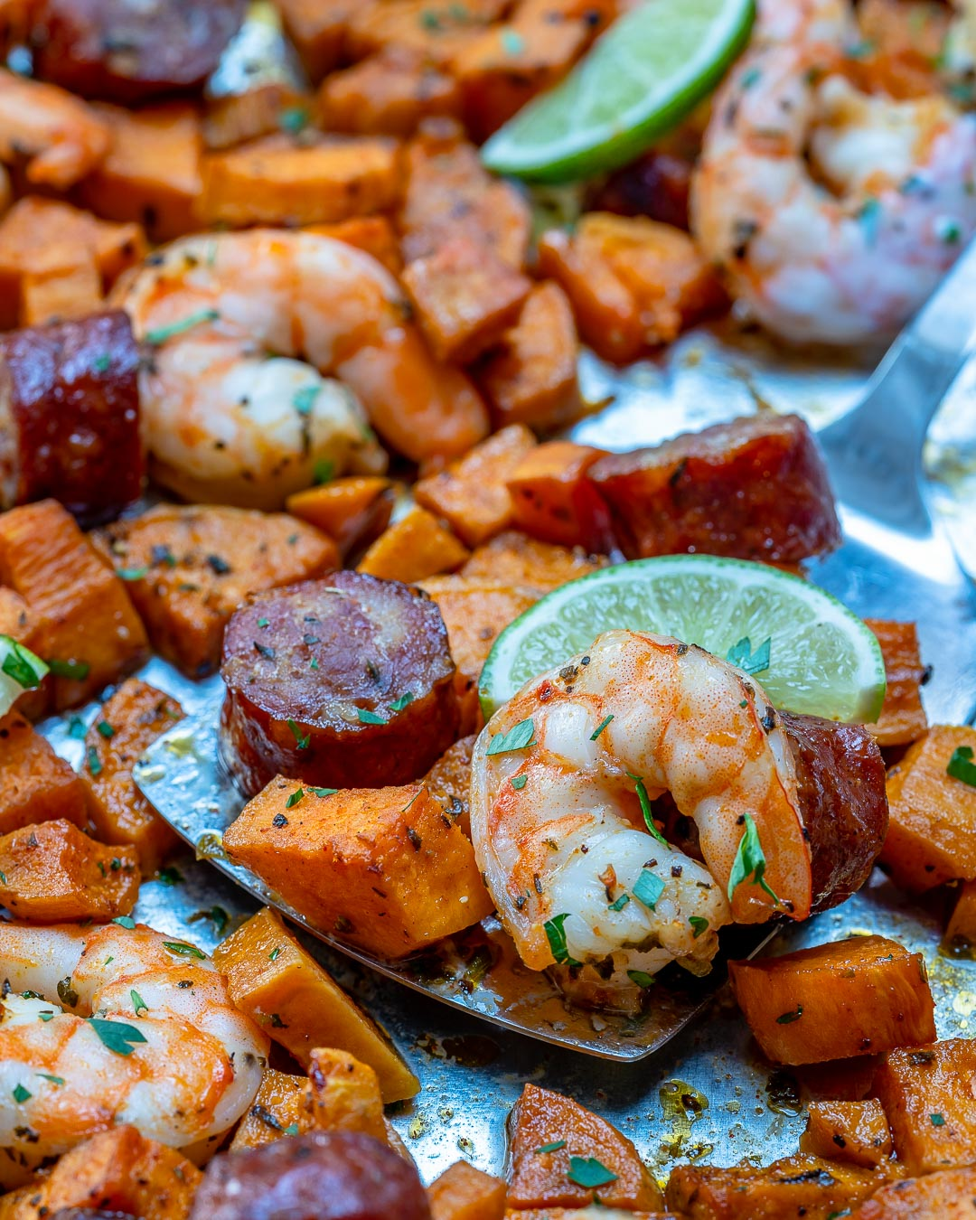 Delicious Sheet Pan Shrimp Boil with Ranch Sauce