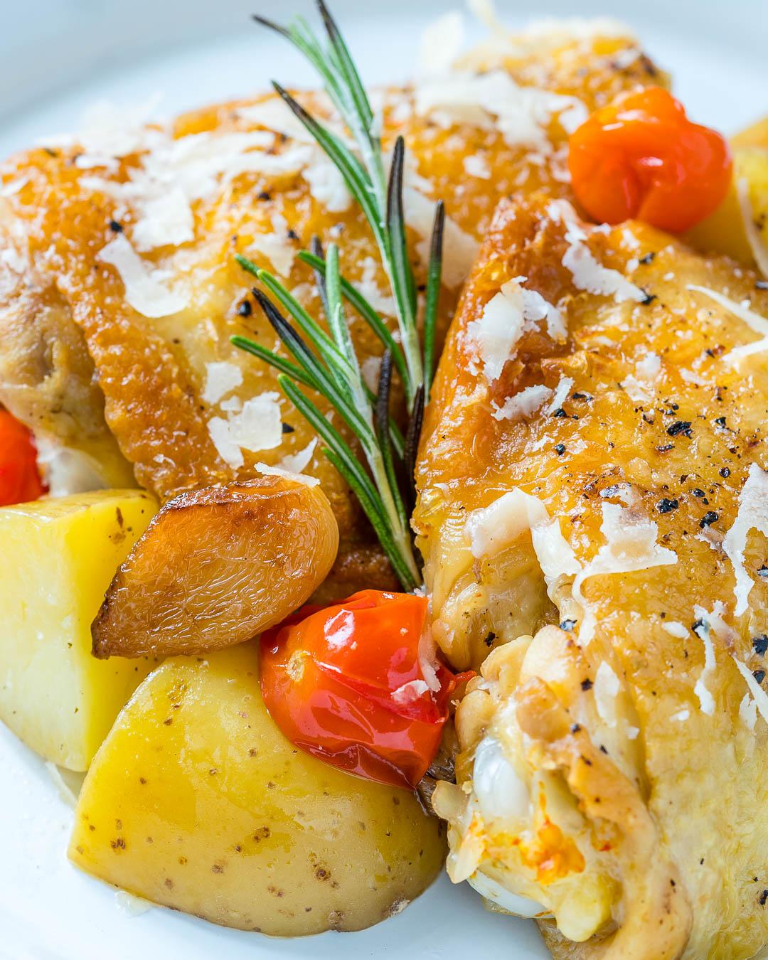 Slow Cooker Garlic Parmesan Chicken Clean Eating Dinner