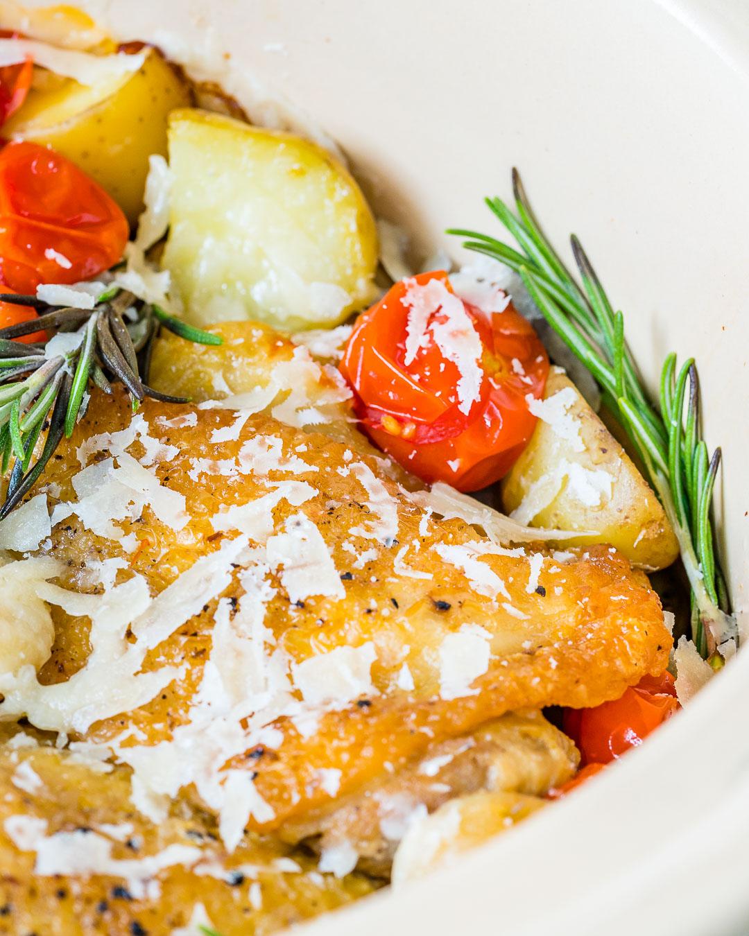 Slow cooker garlic rosemary chicken Clean Food Idea
