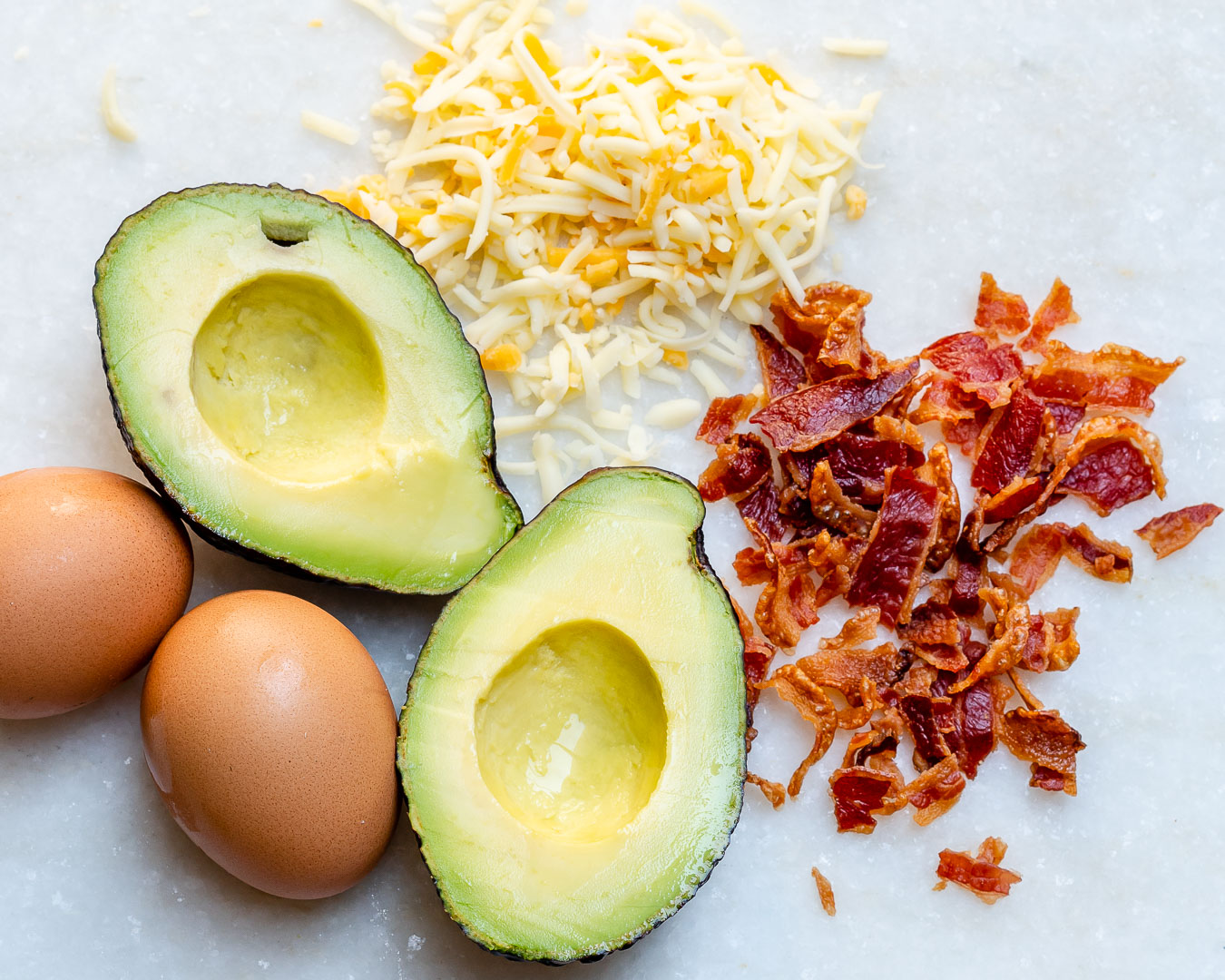 Bacon Egg Avocado Boats Ingredients