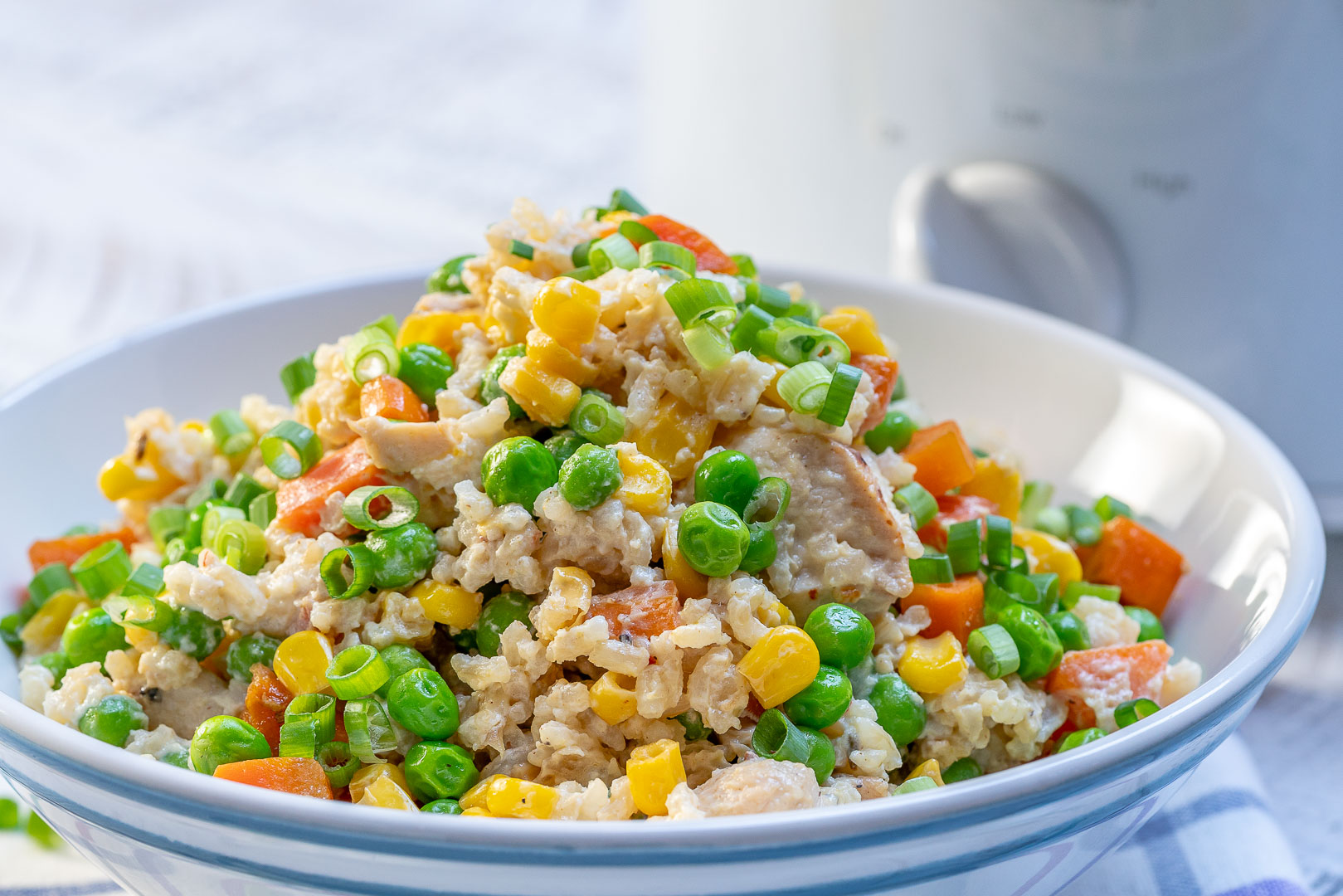 Clean Crockpot Creamy Chicken Rice Recipe