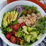 Clean Eating 10 minute Arugula Tuna Avocado