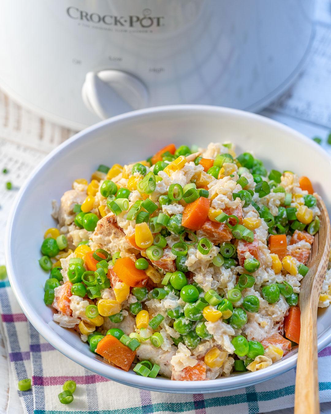 Crockpot Creamy Chicken Rice Ingredients