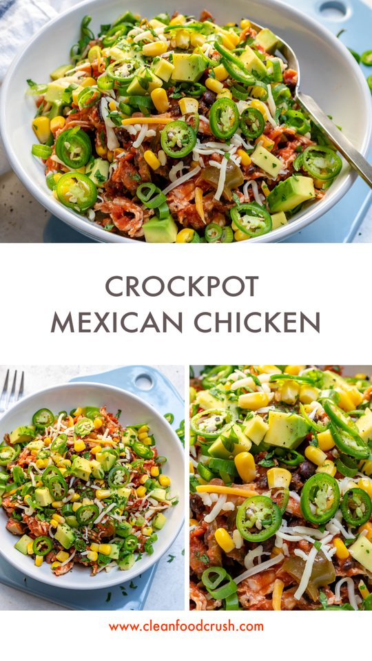 CleanFoodCrush Crockpot Mexican Chicken Bowl
