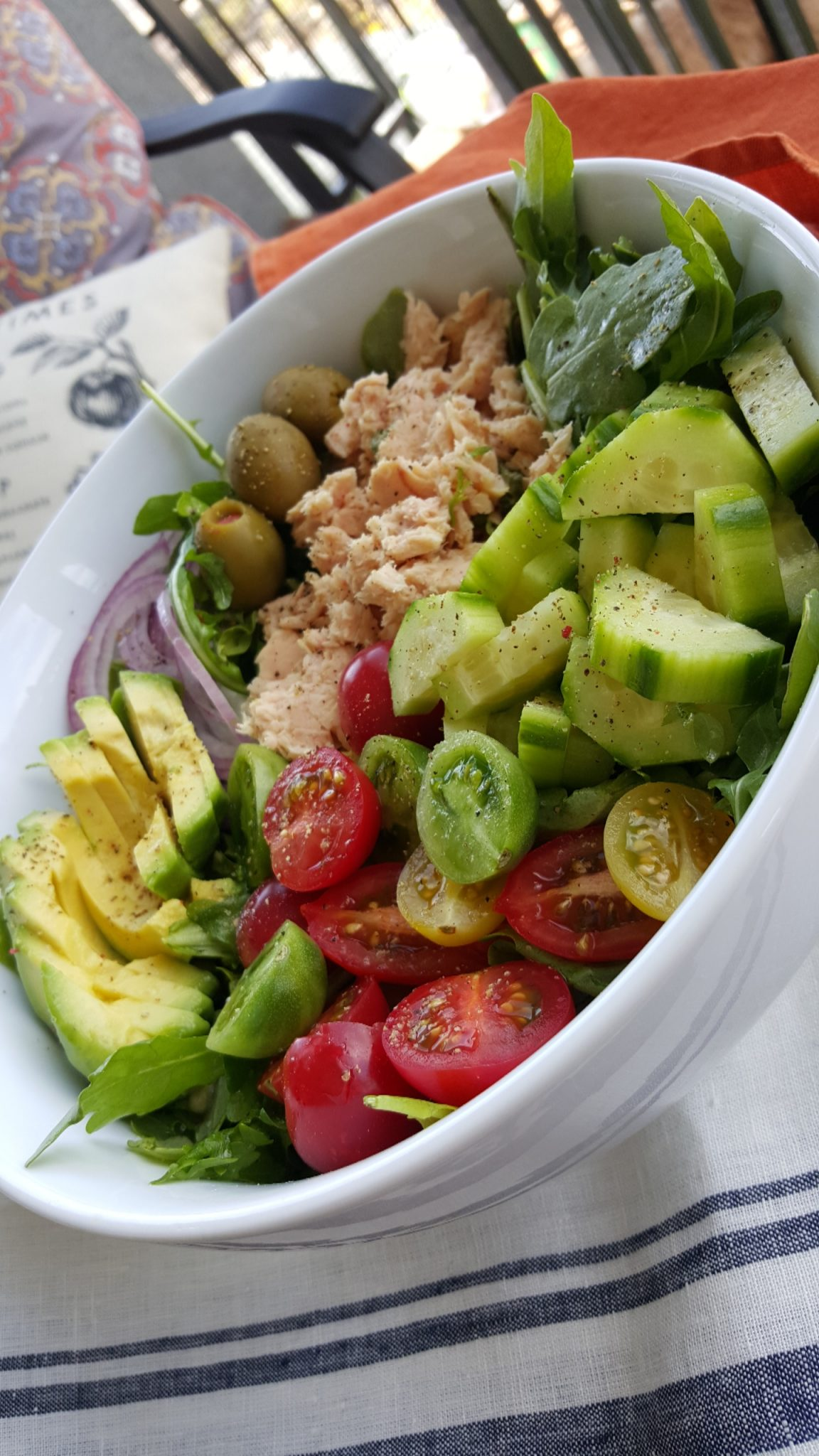 Bowl of Healthy Clean Food Salad Lunch