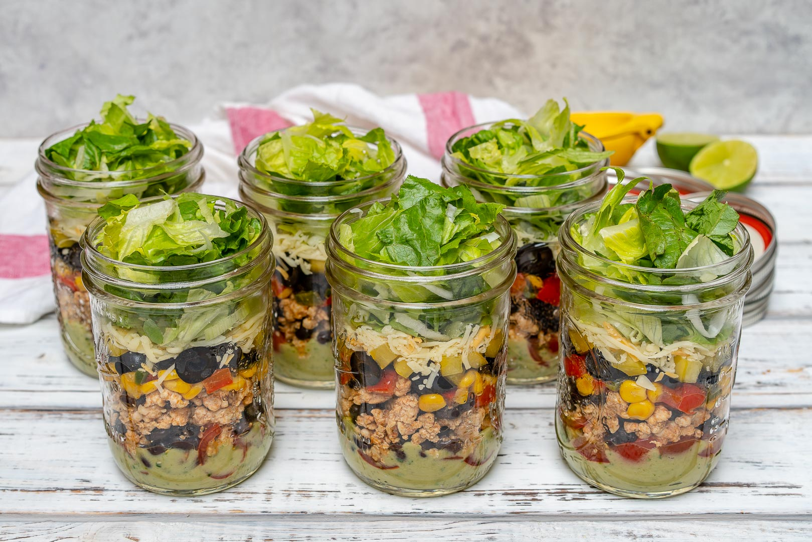 Clean Fiesta Taco Salad-in-a-jar Recipe
