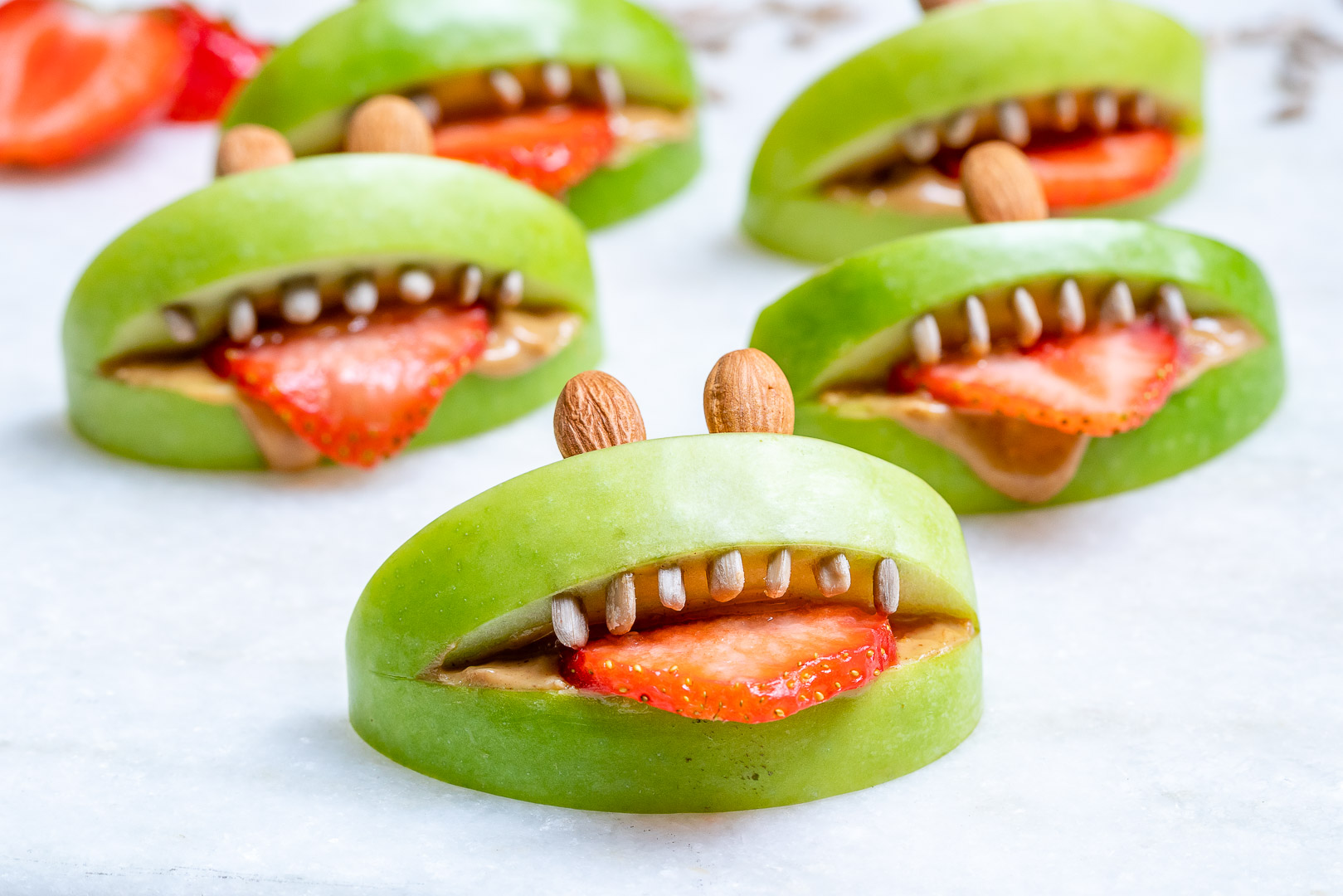 Clean Eats Halloween PB Apple Monsters