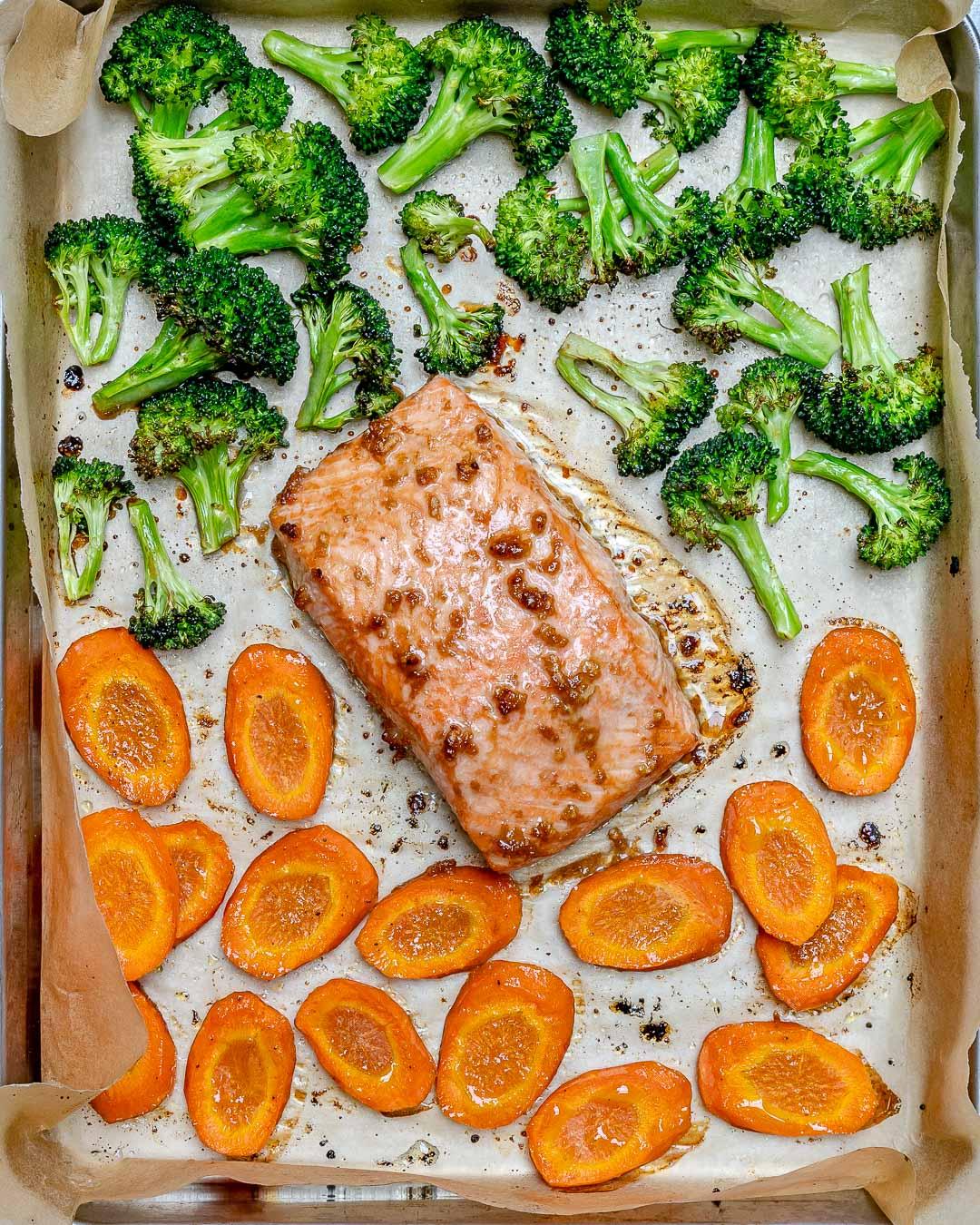 Clean Eating Teriyaki Salmon Food Prep