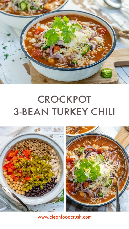 CleanFoodCrush 3-Bean Turkey Chili