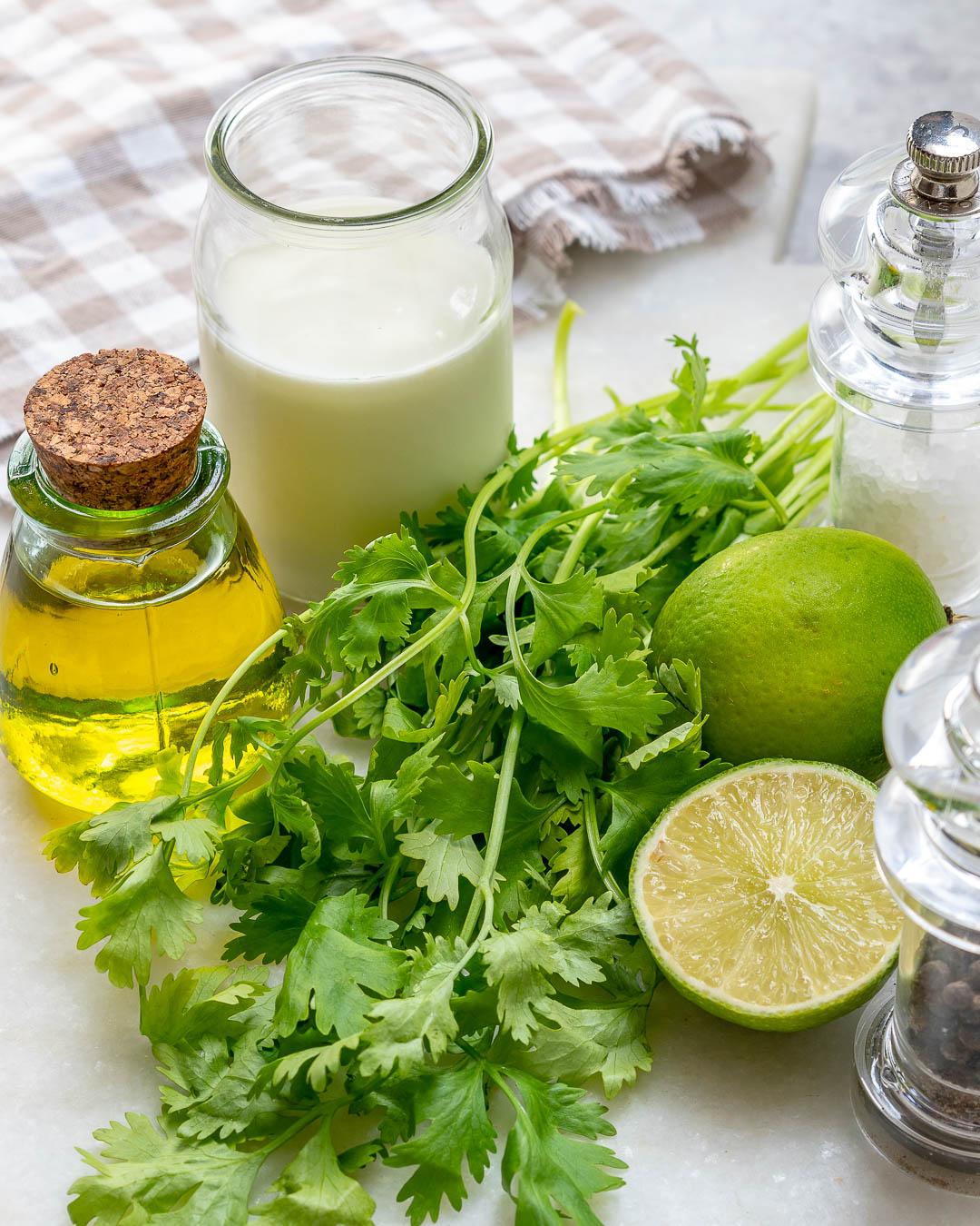 Cilantro Lime Dressing Recipe Prep