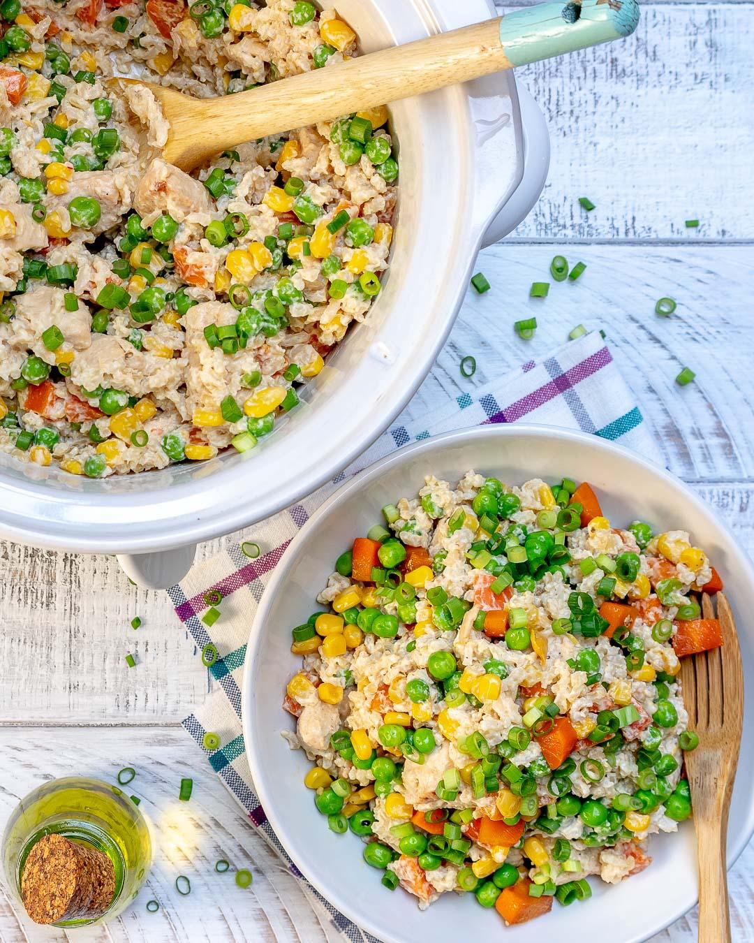 Creamy Chicken Rice Bowls
