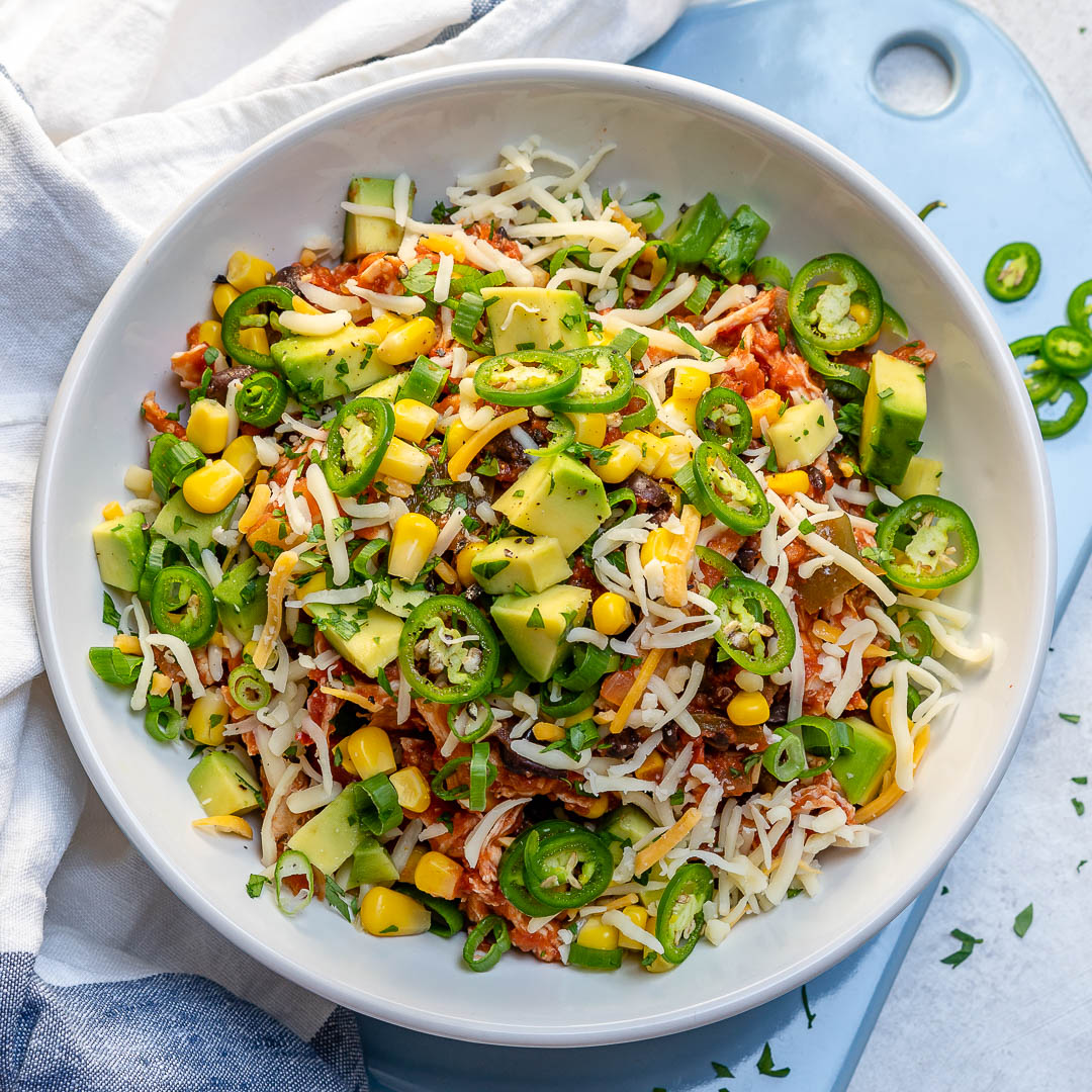 Clean Eating Crockpot Mexican Chicken Bowls For Meal Prep
