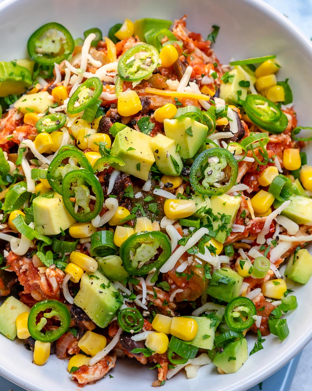 Healthy Crockpot Mexican Chicken Bowls