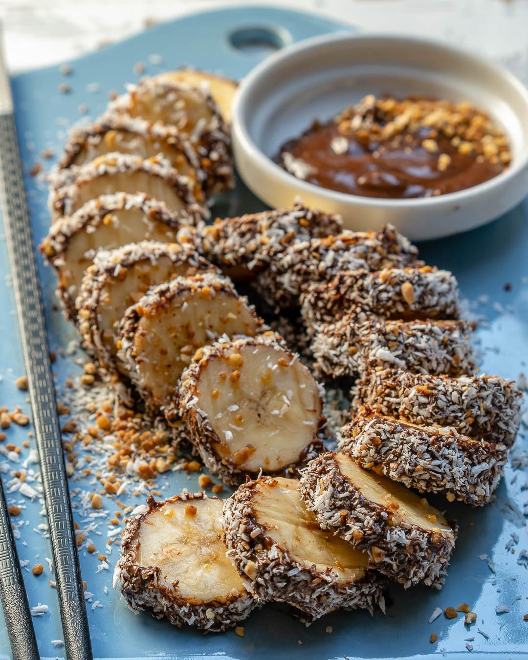 Choco Coated Banana Sushi Healthy Treats