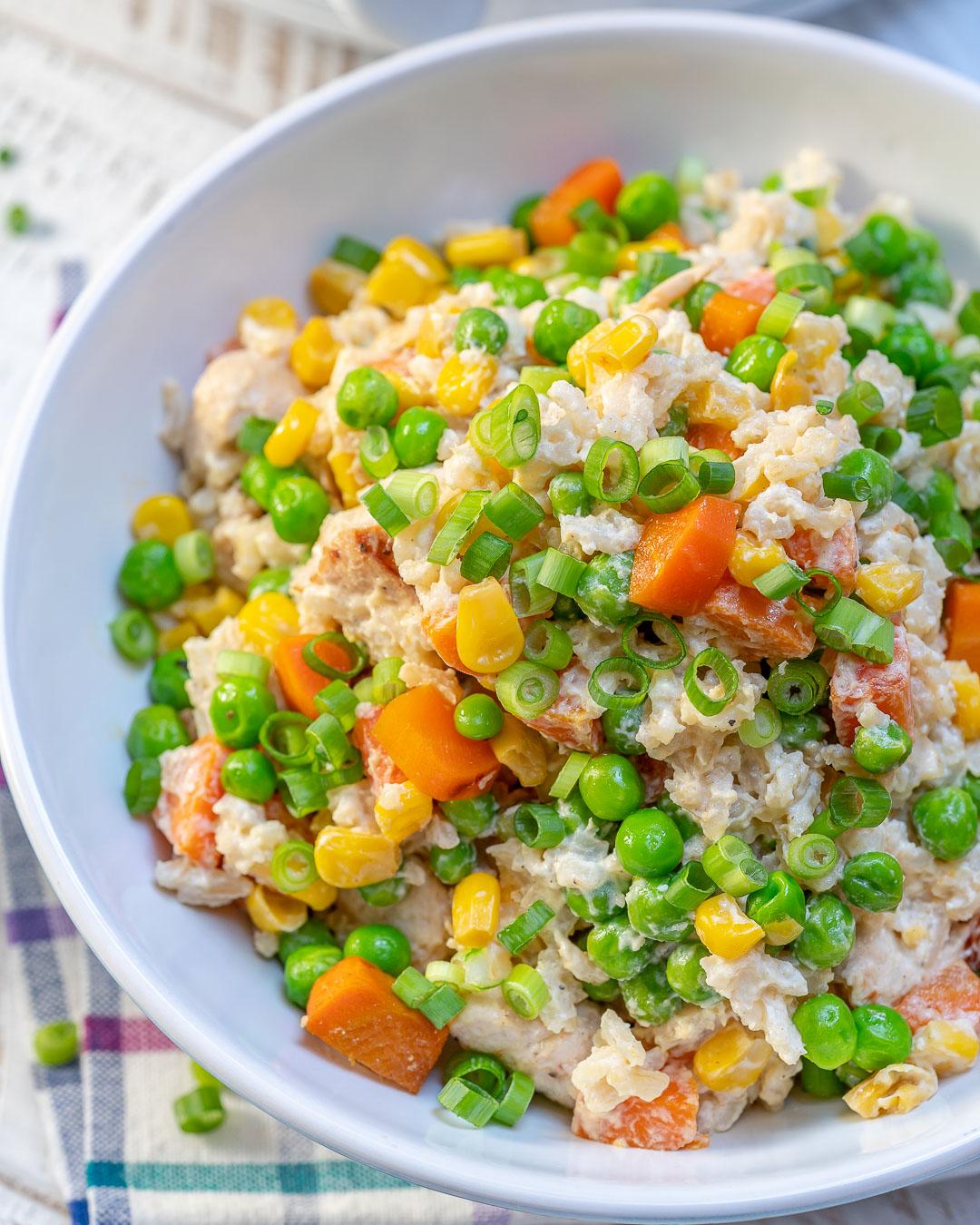 Eat Clean Crockpot Creamy Chicken Rice