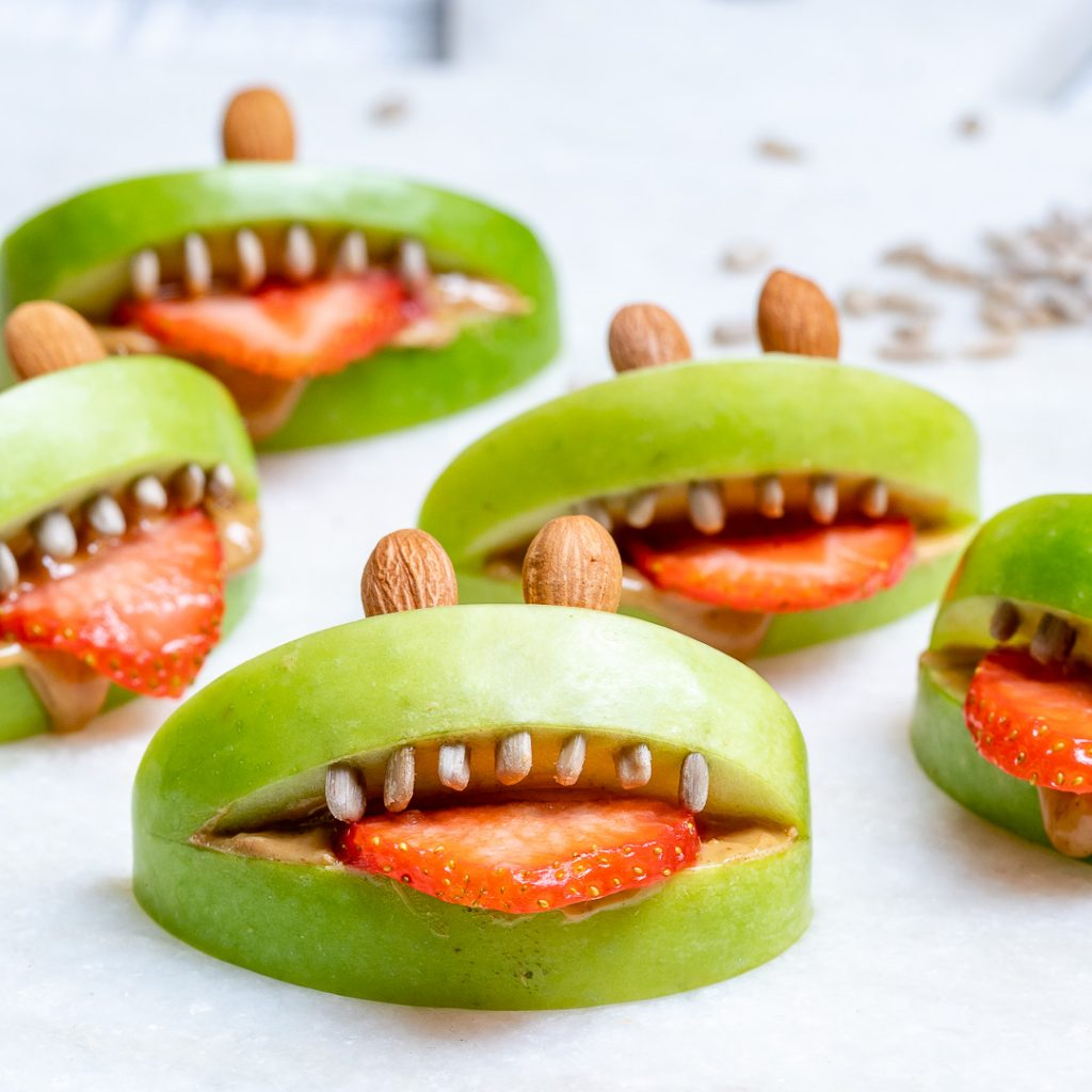 Halloween PB Apple Monsters Recipe