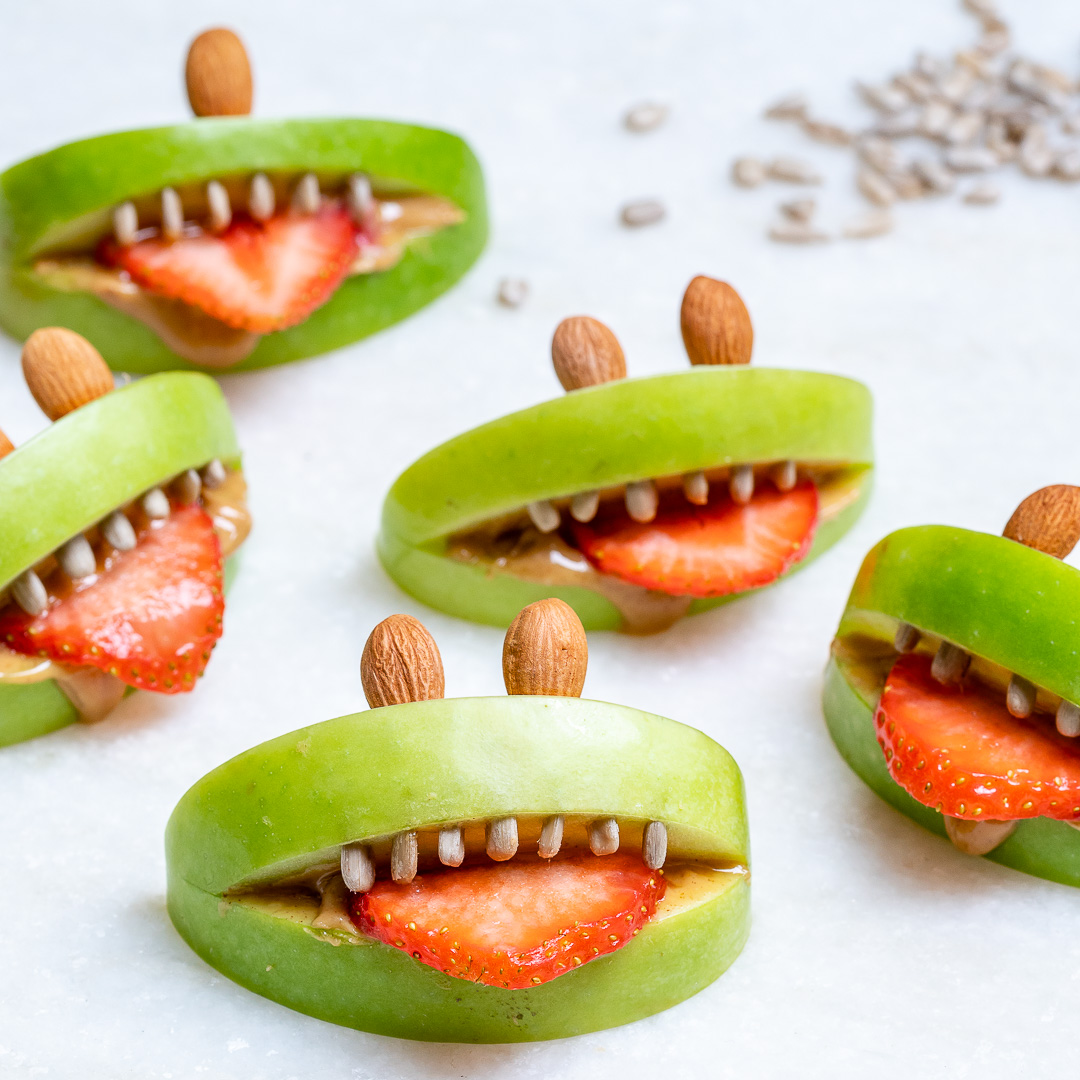 Peanut Butter Apple Halloween Dessert