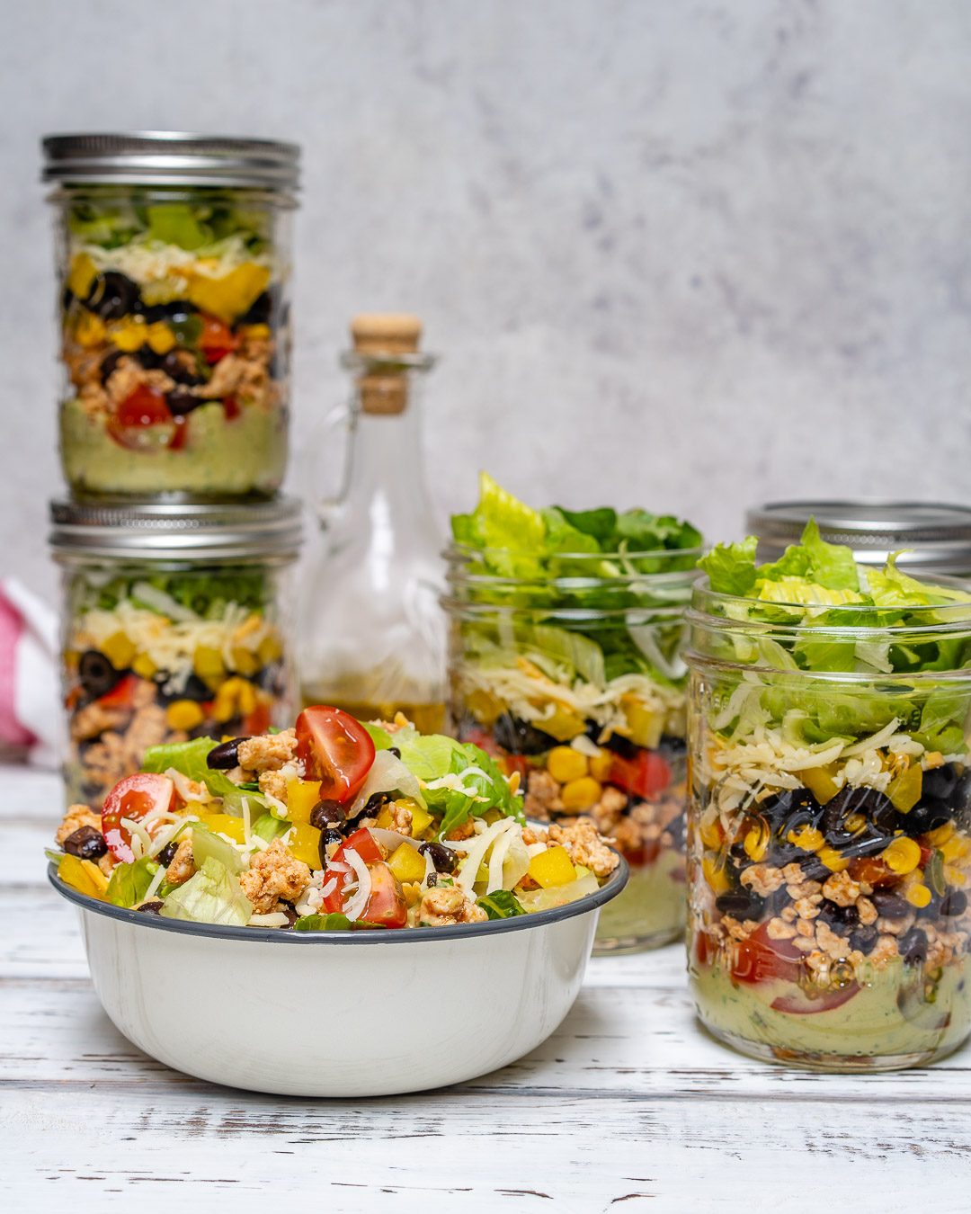 Fiesta Taco Salad Jar Food Prep