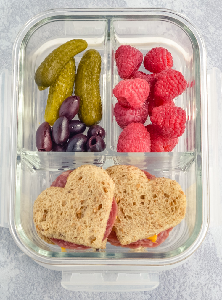 Lunch Box Heart Shaped Sandwiches