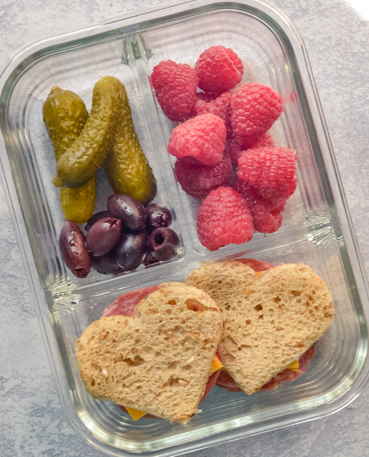 Creative Heart Shaped Sandwich Bento Box