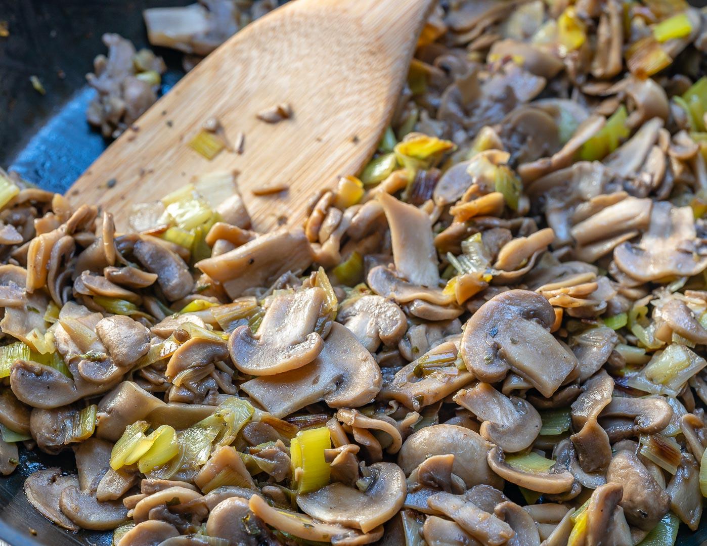 Mushroom Leek Omelet Muffins Healthy Breakfast