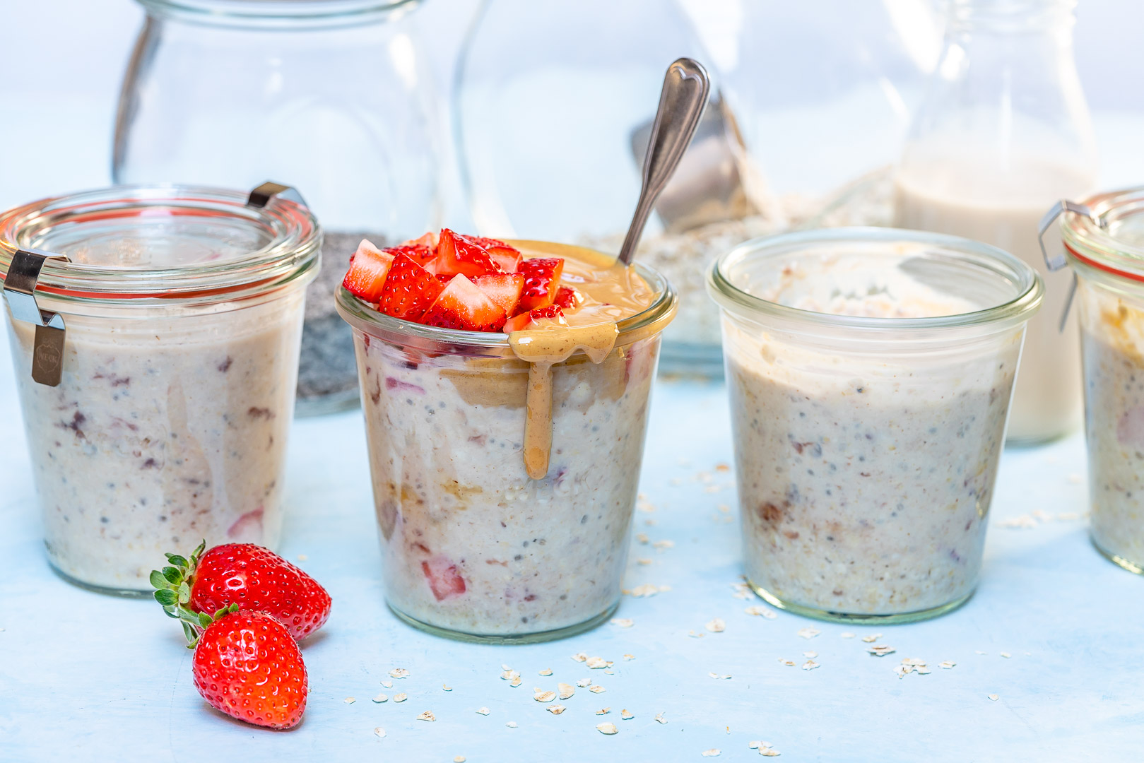 PBJ Overnight Oats by CleanFoodCrush