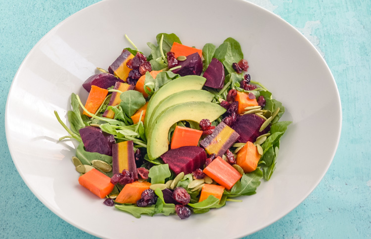 Veggies and Avocado Salad Clean Eating Recipe