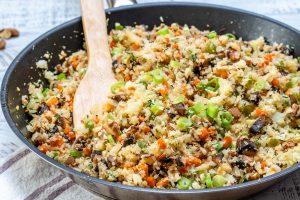 Cauliflower Rice Stuffing Food Prep