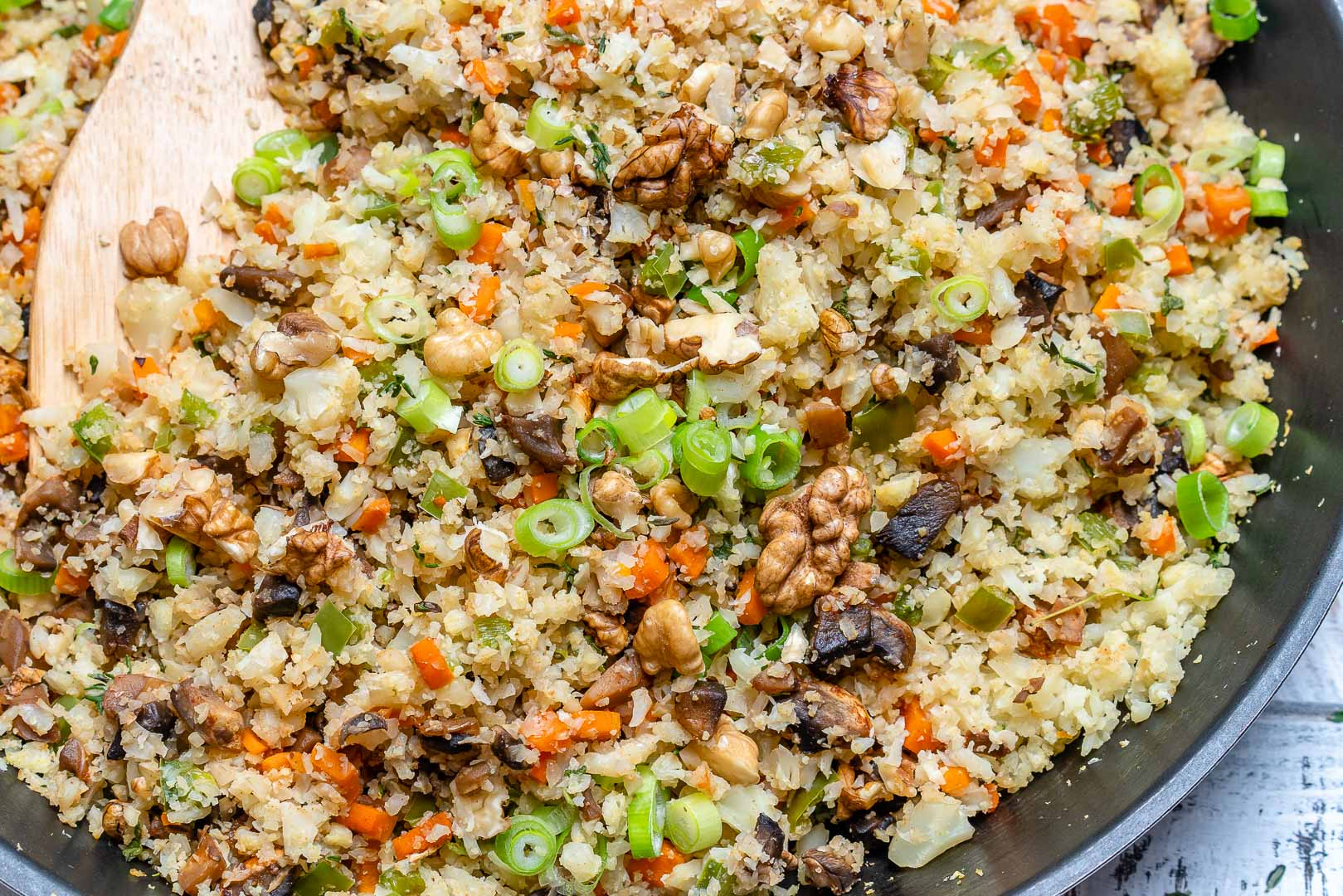Clean Cauliflower Rice Stuffing Side Recipe