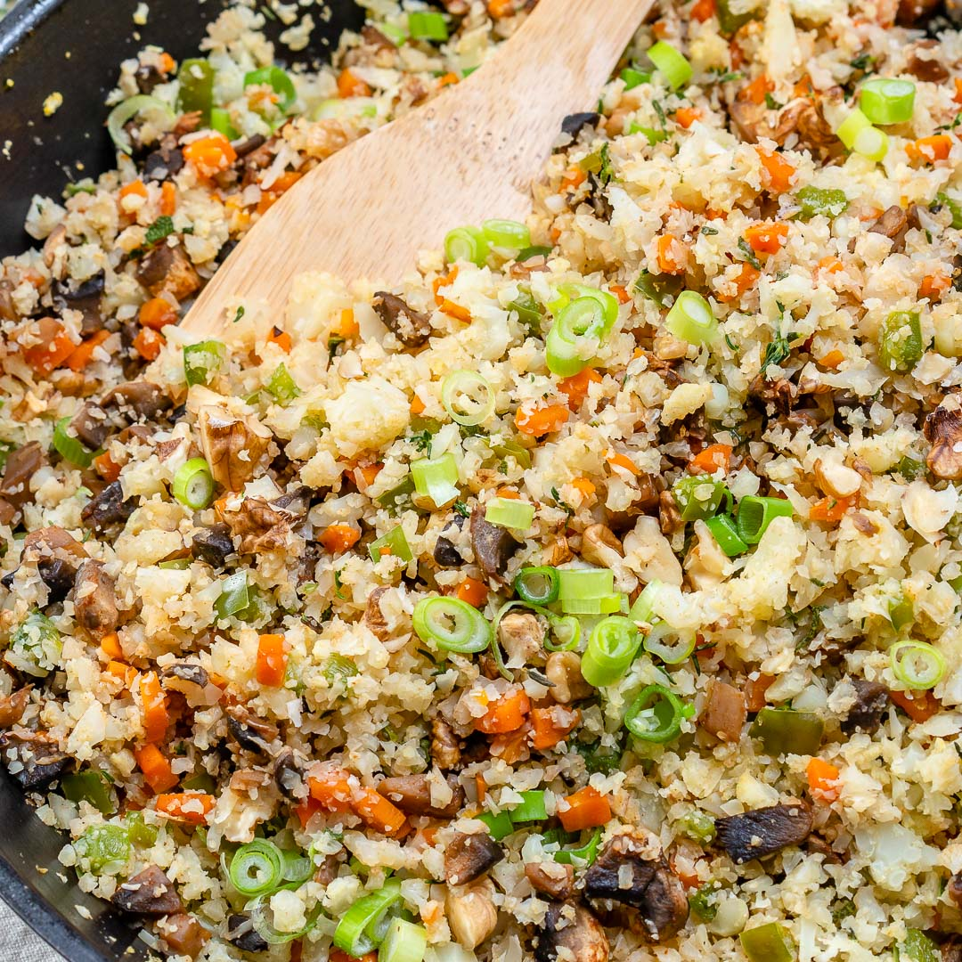 Clean Eating Cauliflower Rice Stuffing Recipe