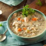 Tasty Clean Eating Creamy Turkey Wild Rice Soup
