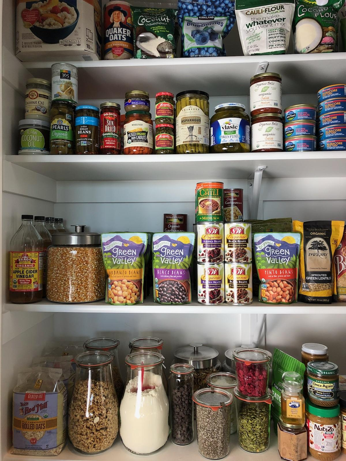 Clean Eating Pantry Organization by Rachel Maser