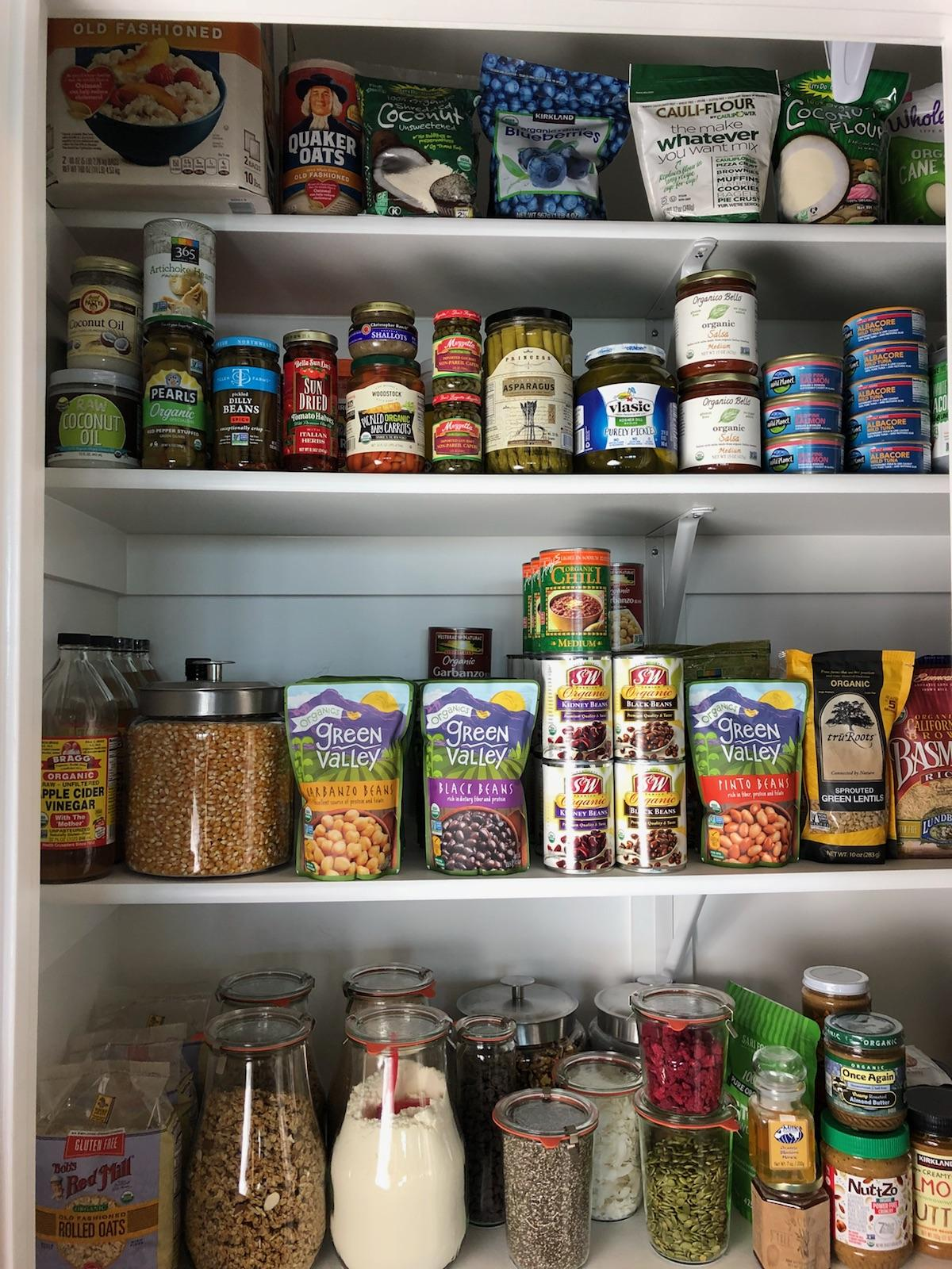 Clean Eating Pantry Organization