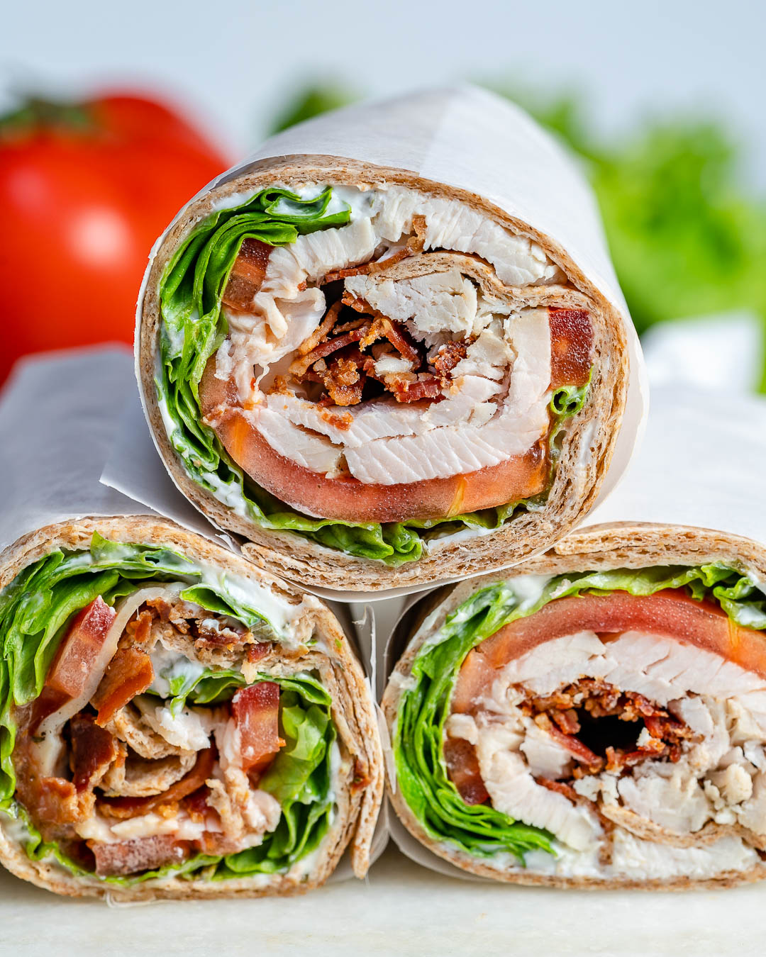 Leftover Tangy Turkey Ranch Club Wraps Recipe