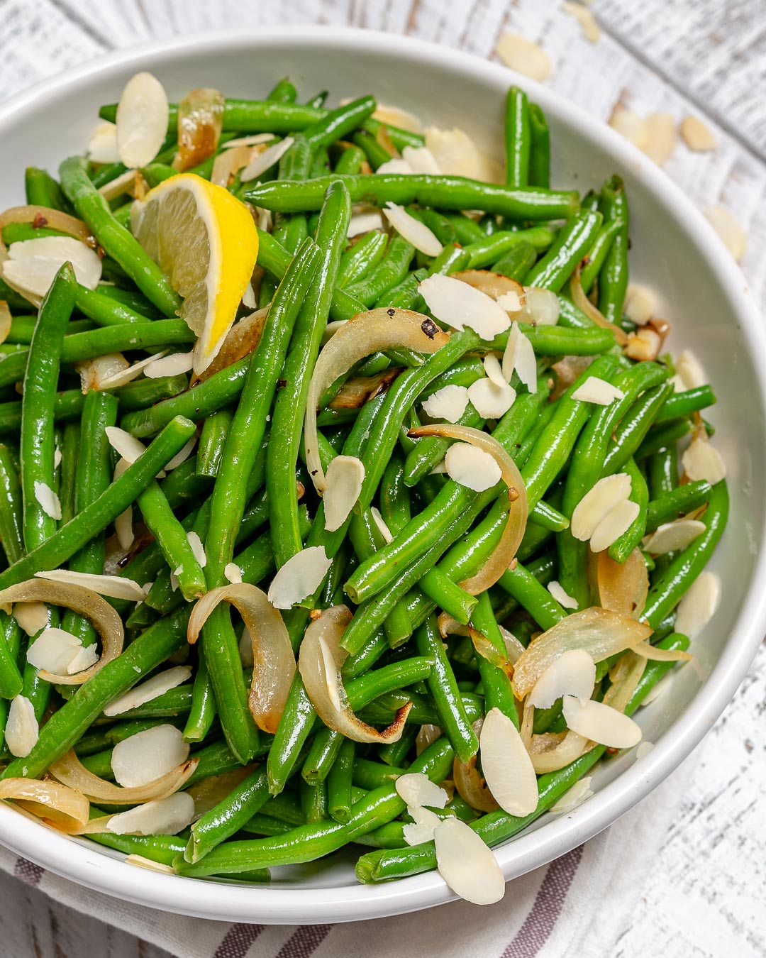 Clean Lemony Sautéed Green Beans