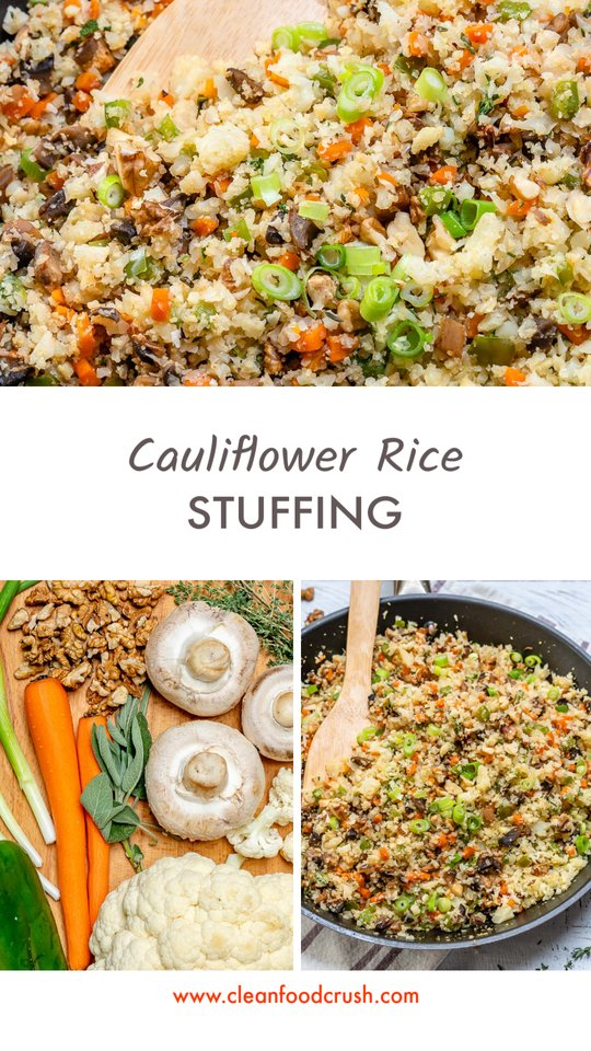 Side Dish Recipe Cauliflower Rice Stuffing