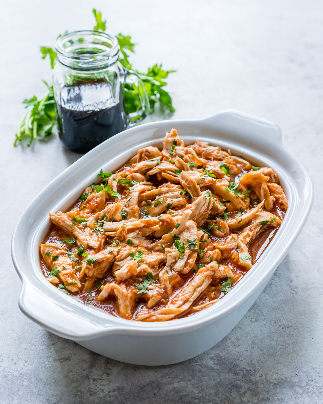 CleanFoodCrush Crock Pot Pulled Chicken