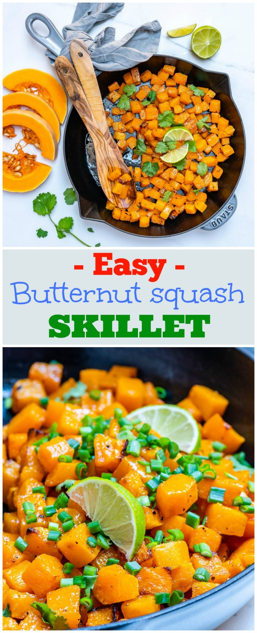 CleanFoodCrush Easy Butternut Squash Skillet